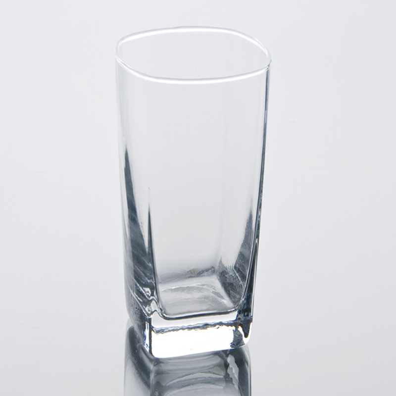 High Square Drinking Glass Glass Water Drinking Tumbler On