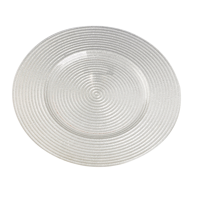 Circle round target wands shape glass plate
