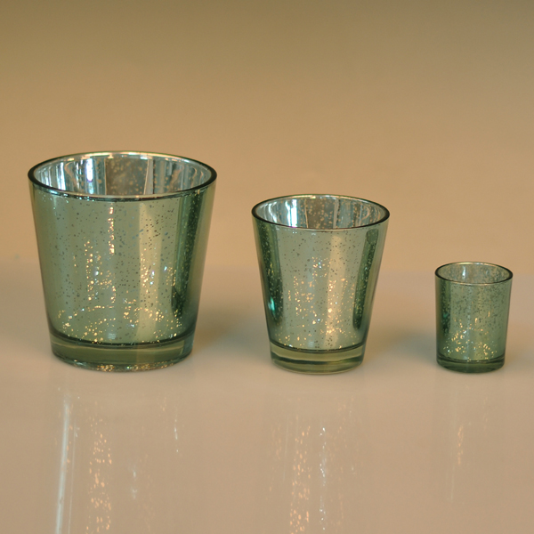 Hot Popular Three Size V Shape Glass Candle Holders