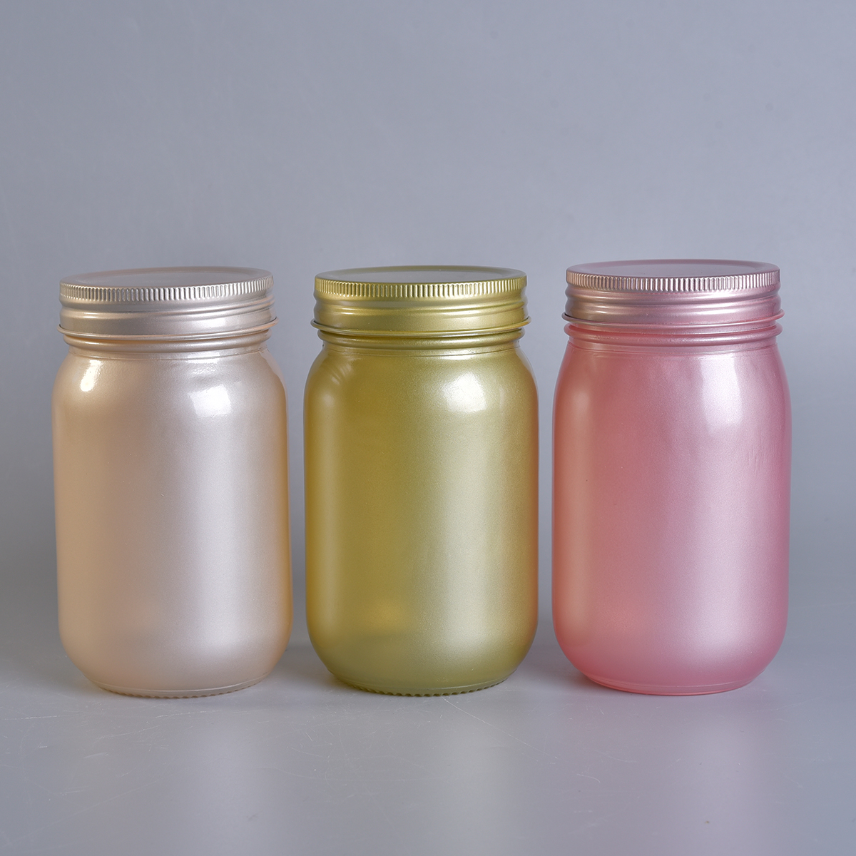 Beautiful Glass Candle Jar With Lids For Decoration