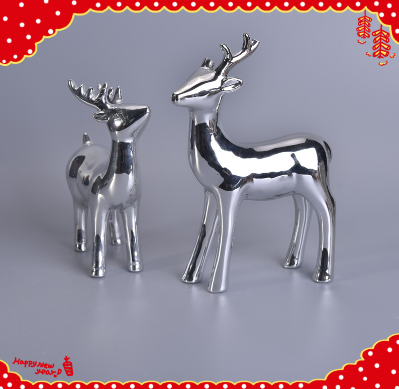 Newly silver Christmas deer decoration