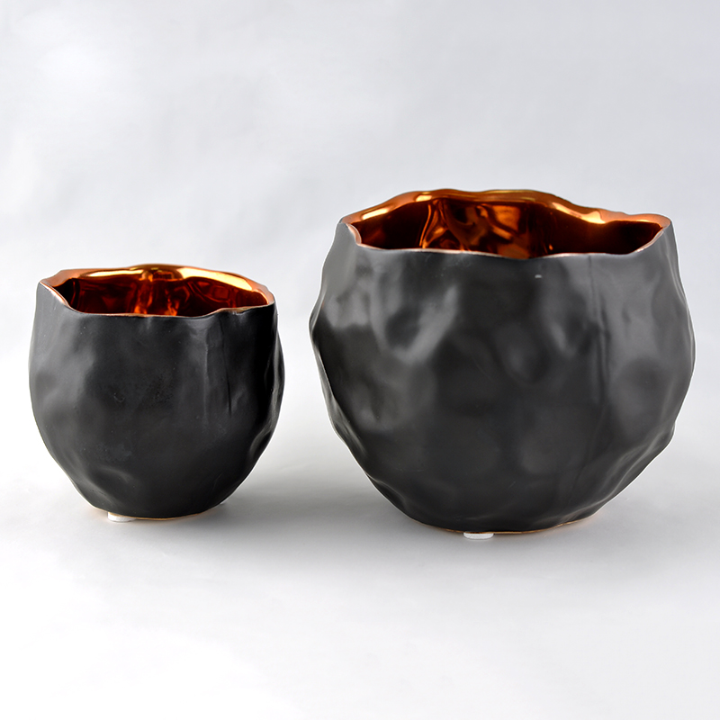 Hot sale eletroplating ceramic candle bowls
