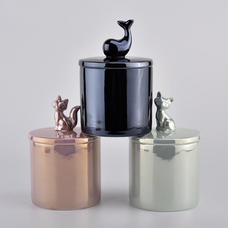 new arrival ceramic candle jars with lids