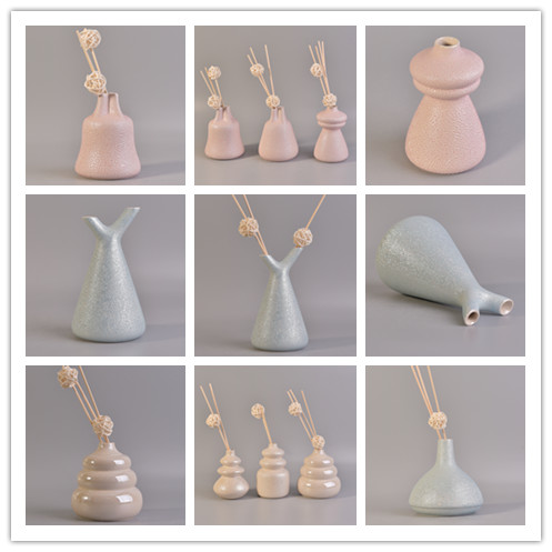 High quality beautiful ceramic aroma reed diffuser bottles