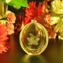 elegant clear perfume glass bottle