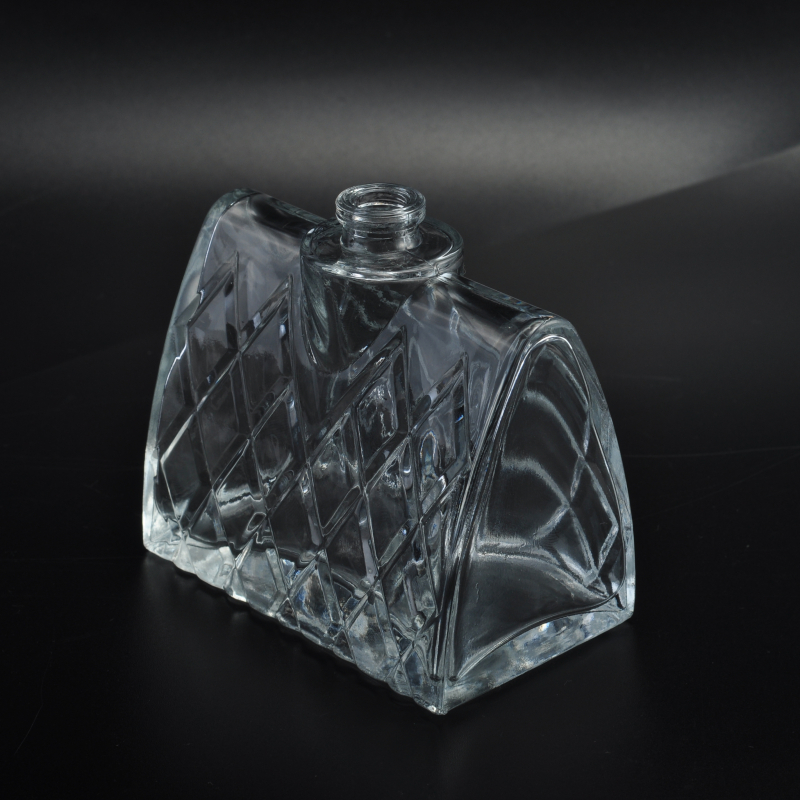 Machine Made Lady Handbag Shape Cosmetic Glass Perfume Bottle