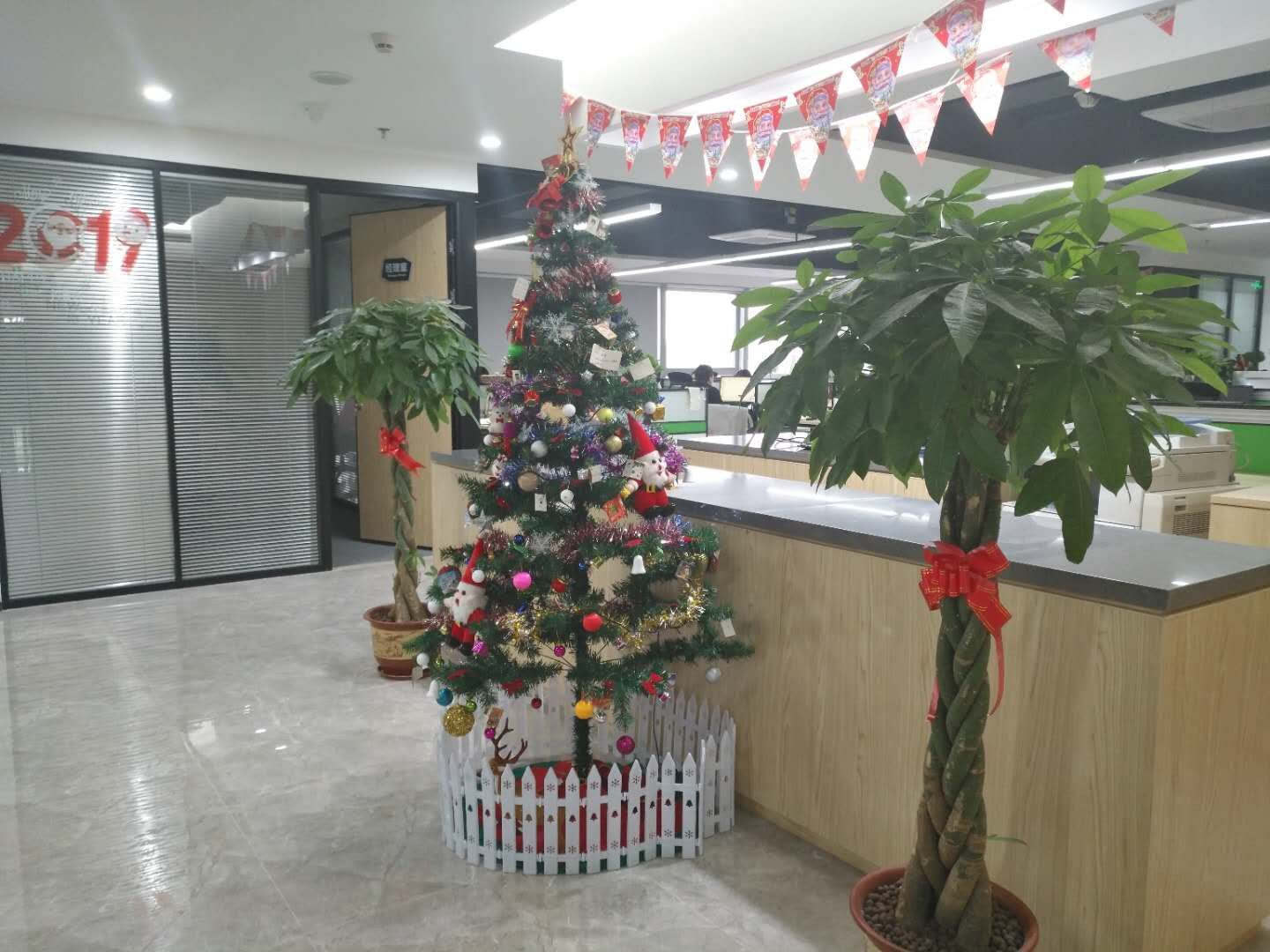 Sunny Group office with Christmas decoration