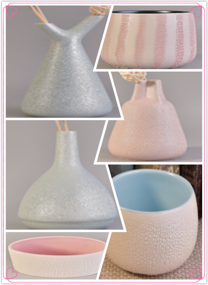 Newly pearl glazed raindrop ceramics for home decoration