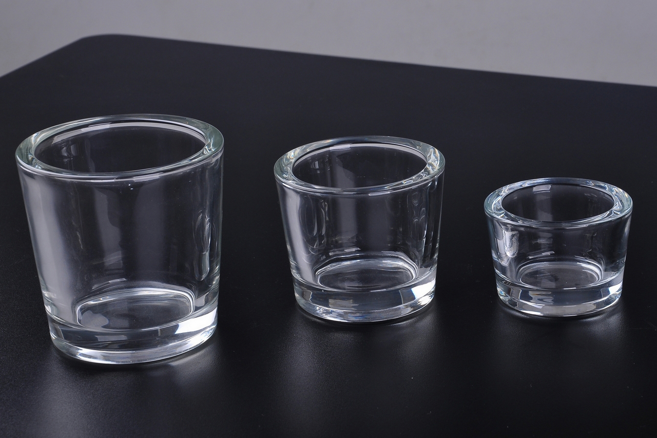 Wholesale Thick Wall Glass Candle Holders