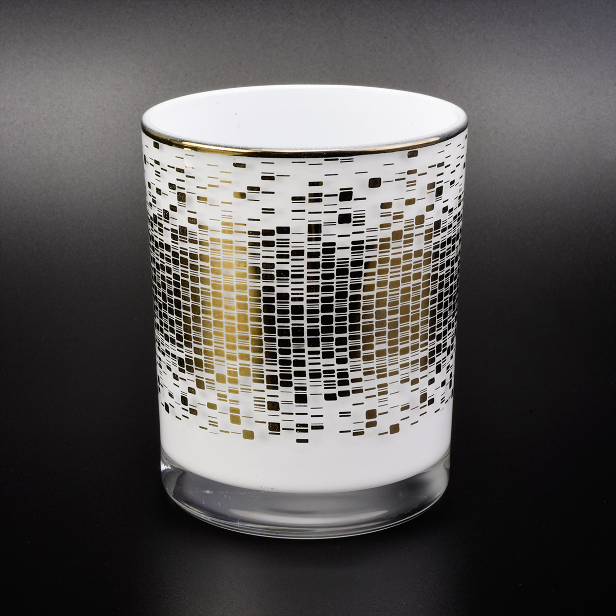unique white glas candle jar for candle making