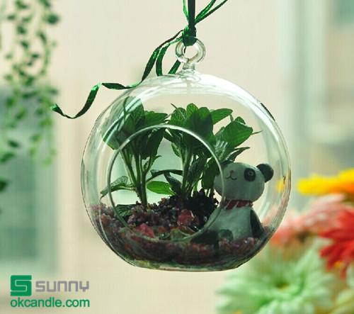 Borosilicate hanging glass ball landscape