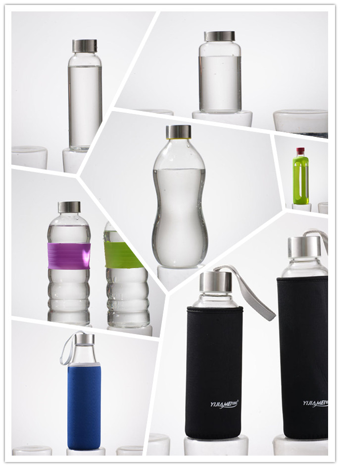 Customized pyrex glass water bottle water bottle suppliers