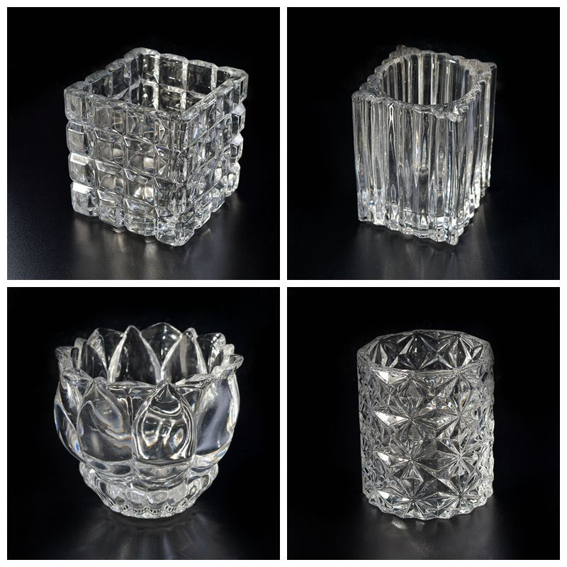 Luxury empty glass candle holder
