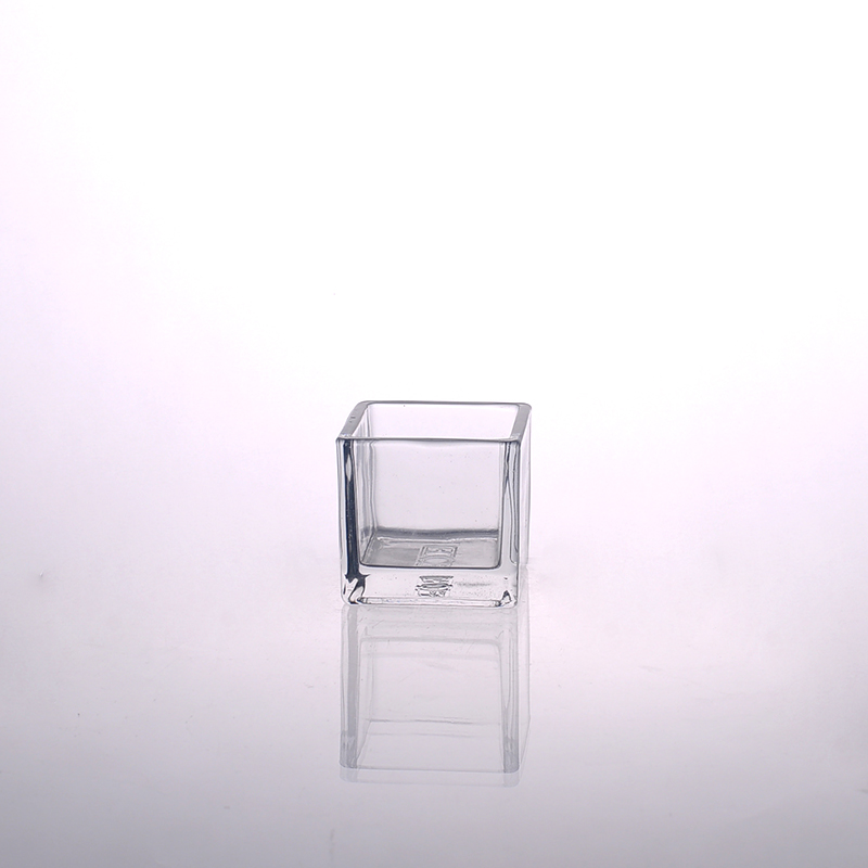home decor square glass candle holders