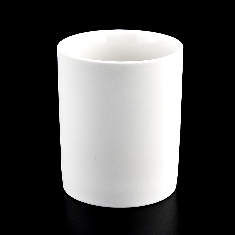Wholesale Matte White Ceramic Candle Jars
