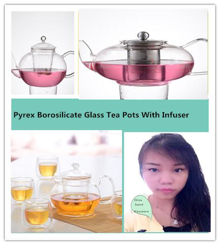 Pyrex Borosilicate Glass Tea Pots With Infuser
