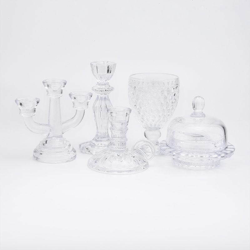 glass candle vessels