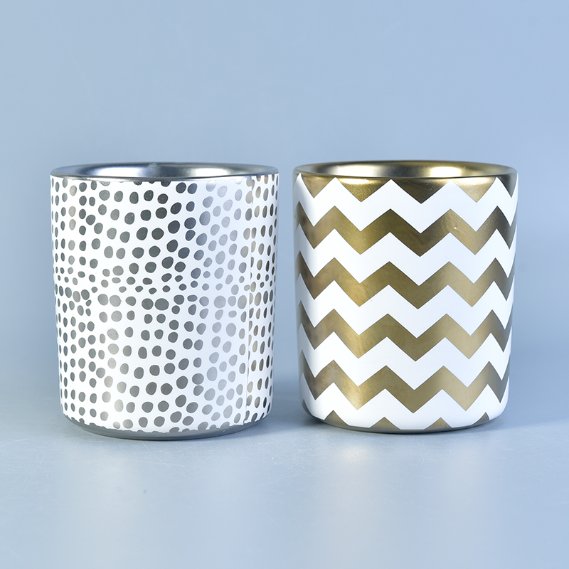 Shade Electroplated Ceramic Candle Holders from Sunny Glassware