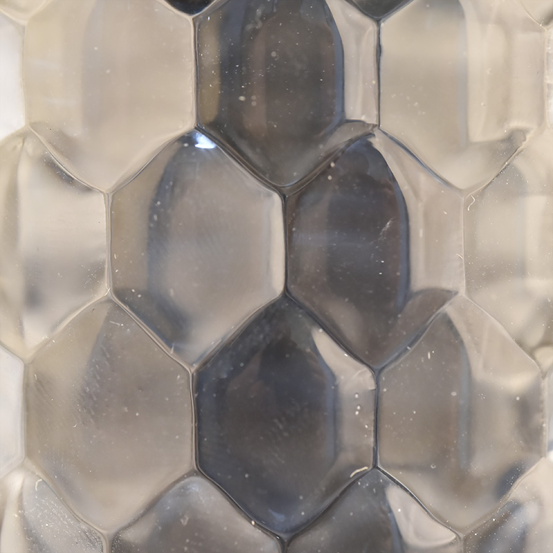 6oz cylinder candle jars with honeycomb design glass jar wholesaler