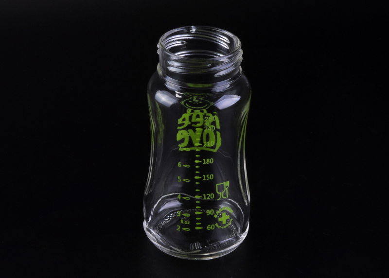 309mL best Baby pyrex glass feeding bottle with measure