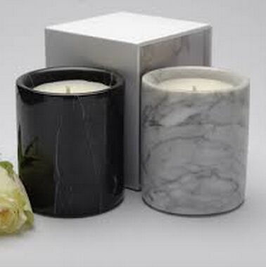 marble candle jar