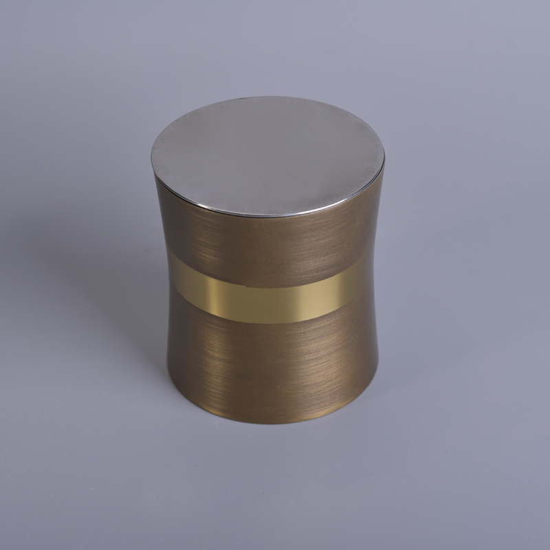 High quality copper plating scented wax stainless steel candle jars