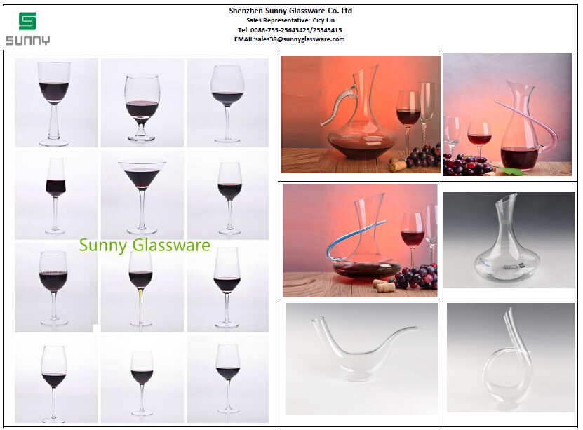Sunny Glassware-glass wine glass & decanter