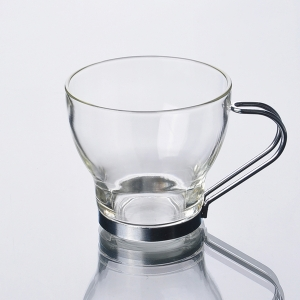 190ml coffee cup with Stainless Steel Handle