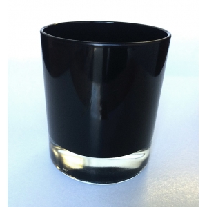 Black glass candle holders for wholesale