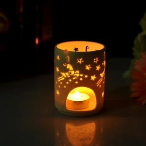 Ceramic jar for tealight candle
