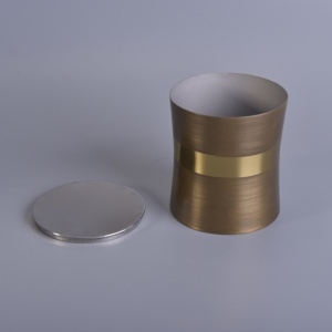 High quality copper plating scented wax stainless steel candle jars with lids