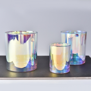 Luxury Holographic Effects Glass Candle Holder 6OZ 8OZ 10OZ