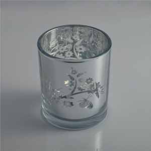 Luxury Electroplating Laser Votive Candle Glass Jar Votive