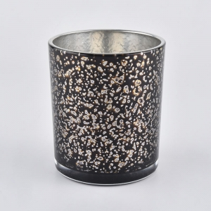 New Arrival Glass Candle Jars With Silver Plating