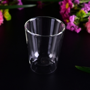 Promotional 200ml Christmas use heat resistant double wall glasses