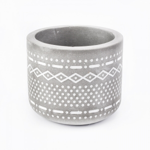 Round shape home  modern cement  tealight candle holders