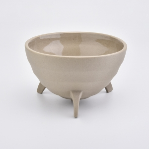 Unique shape ceramic candle bowl for home fragrance