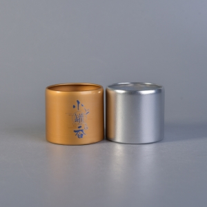 Wholesale metal  coffee box gold tea containers