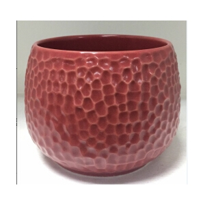 ball shaped dot debossed ceramic candle containers wholesale