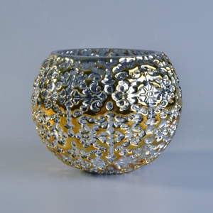 gold glass candle luxury scented candles