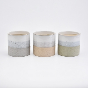 home decor ceramic candle containers