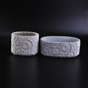 home decor flower cement candle holder