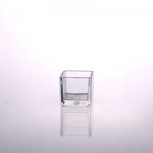 Home Decor Square Glass Candle Holders On