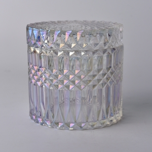 luxury glass candle jar with glass candle lid