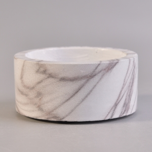 marble pattern cement candle holder decoration