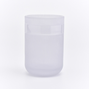 pearl white glass jar with lid for candles