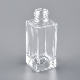China 100ml clear square empty glass perfume bottle factory