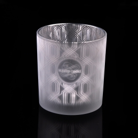 10OZ Laser Engraved Glass Candle Holder