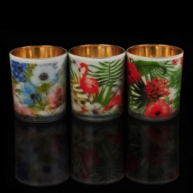 China 10oz Colored Glass Candle Holder Wholesale factory