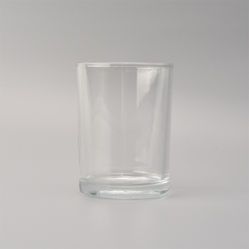 China 10oz Transparent cylinder candle glass jars factory